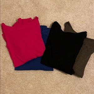 Bundle of 4 Loft  boat neck T's